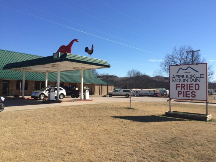 Outside Arbuckle Mountain Fried Pies in Davis, Oklahoma