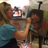 Live painting during 2nd Friday Art Walk - photo by Dennis Spielman