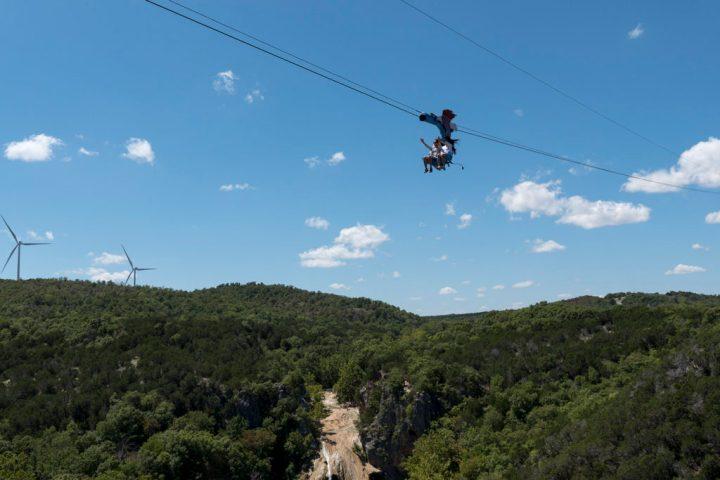 Turner Falls Zipline - photo by Dennis Spielman