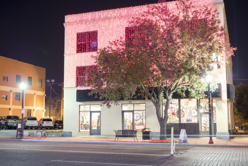 Lights on Broadway in Automobile Alley, part of Downtown Oklahoma City - photo by Dennis Spielman