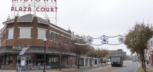Midtown Shopping Plaza in Winter - photo by Dennis Spielman