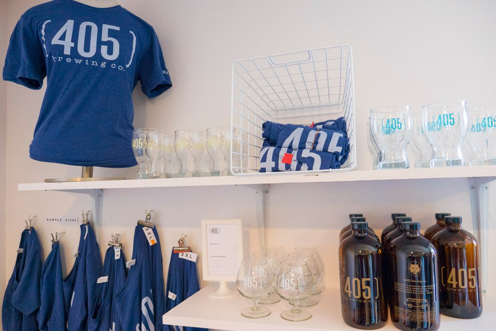 Goods for sale at 405 Brewing Co - Photo by Dennis Spielman