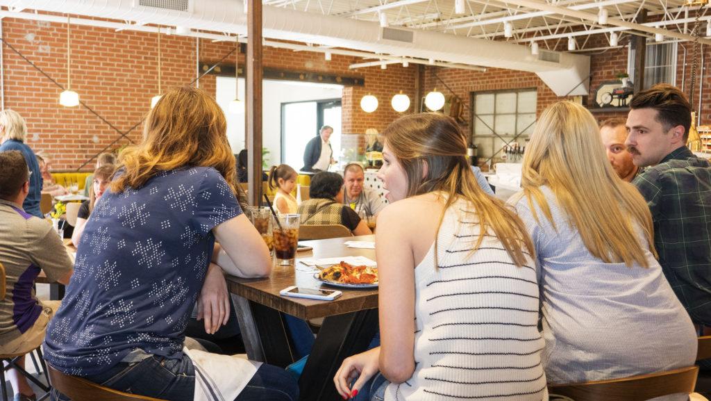Inside The Hall's Pizza Kitchen - photo by Dennis Spielman