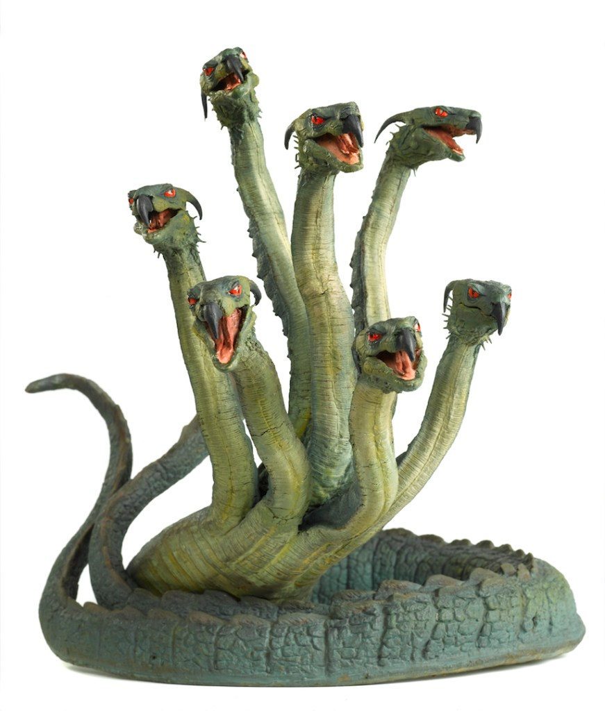 """Ray Harryhausen's Hydra from the 1963 film """"Jason and the Argonauts."""" Photo by Andy Johnson for The Ray and Diana Harryhausen Foundation."""
