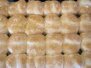 The Famous Rolls at Jimmy's Round-Up Cafe - photo by Dennis Spielman