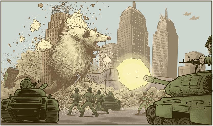 Panel from Oklahoma Kaiju