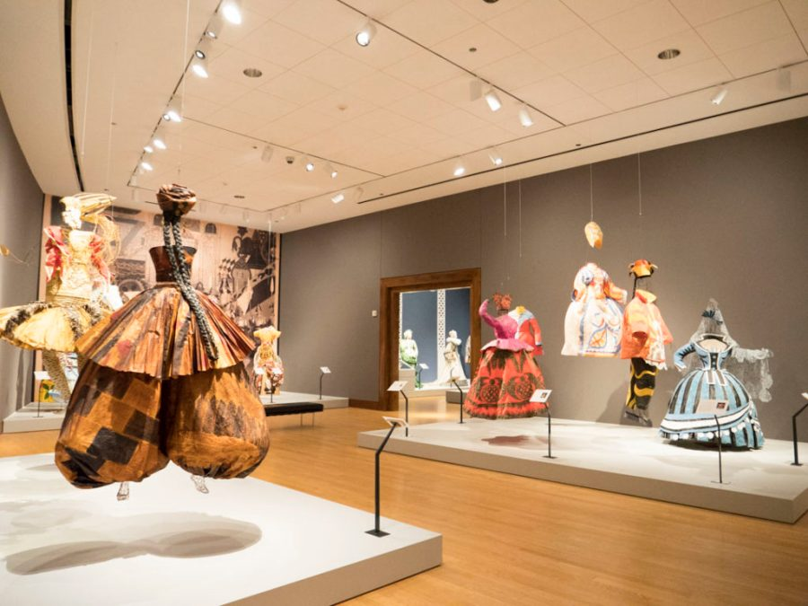 Fashioning Art from Paper at the OKC MOA - photo by Dennis Spielman
