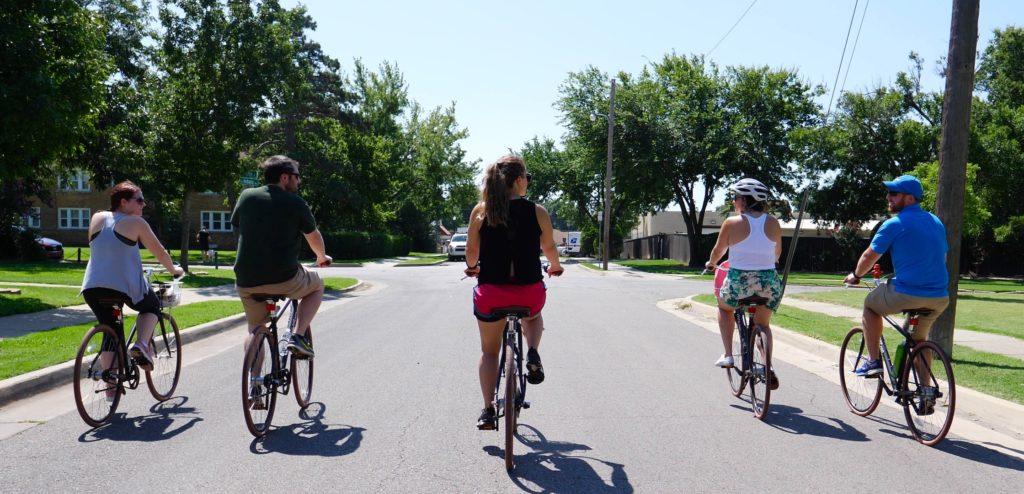 Biking with Ride OKC - photo by Dennis Spielman