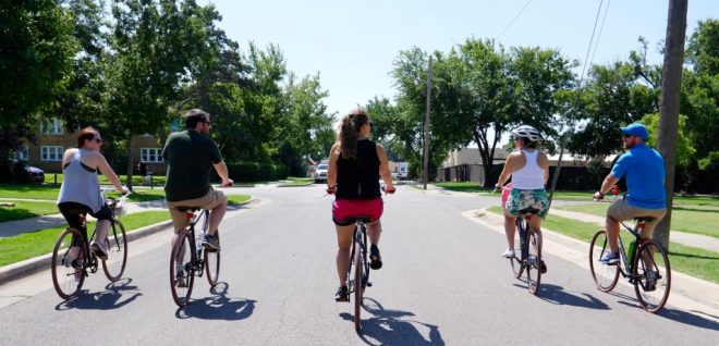 Biking with Ride OKC - photo by Dennis Spielman