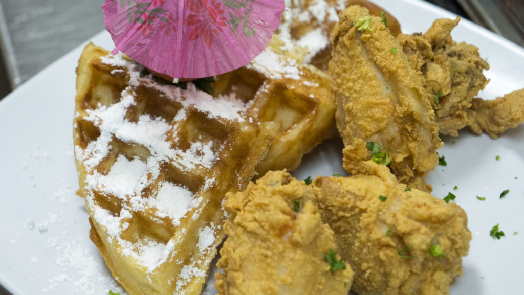 Chicken and Waffles at Brielle's Bistro - photo by Dennis Spielman