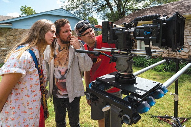 Cate Jones (Director), Mickey Reece (Jamie), and Jacob Burns (DP) for She's The Eldest