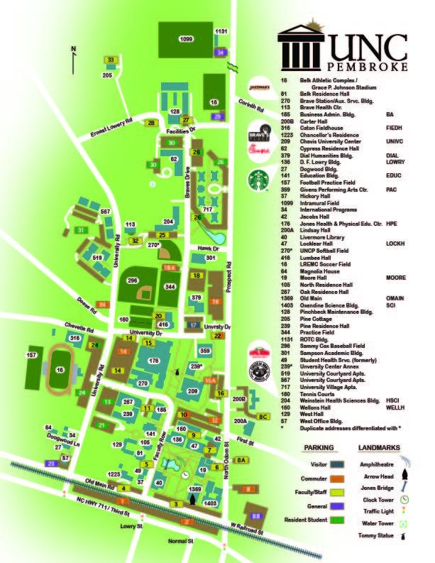 Unc Pembroke Campus Map.Uncp Campus Www Imagenesmy Com