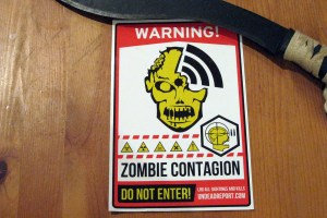 WARNING ZOMBIES sticker