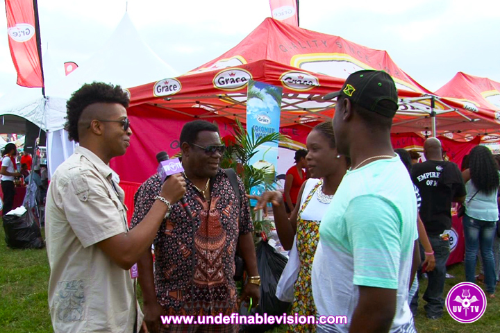 Tabou TMF aka Undefinable One on location at Grace Jamaican Jerk Festival in New York City
