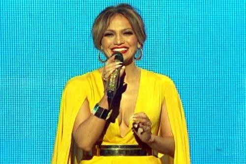 Jennifer Lopes at The Americian Music Awards