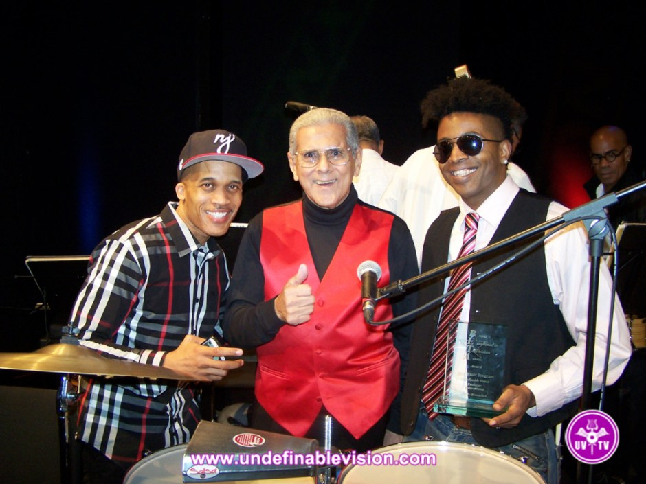 Winner of Best Music Program Tabou TMF aka Undefinable One with DJ Cool Clyde & Orlando Marin aka The Last Mambo King at the 2014 BETA Awards