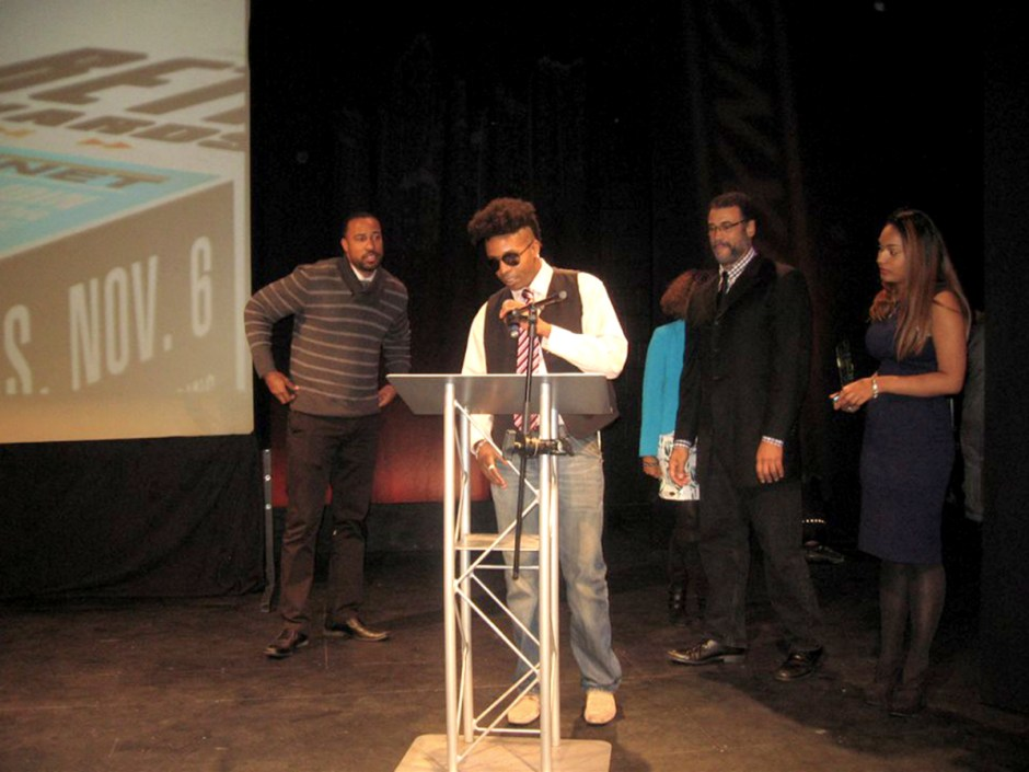 Tabou TMF aka Undefinable One accepting 2014 BETA Award for Best Music Program