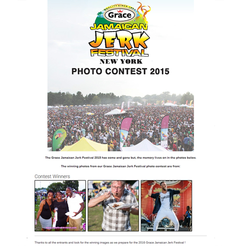 Our producer Tabou TMF wins 1st place in the Grace Jamaican Jerk Festival 2015 Photo Contest