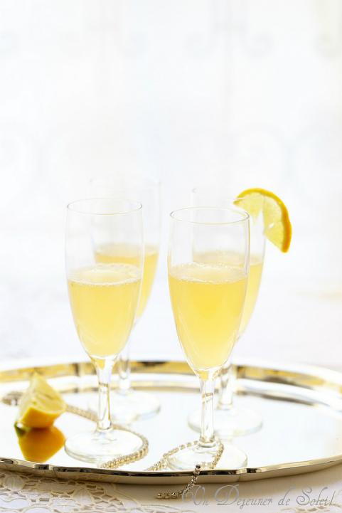 Cocktail champagne et citron bergamote