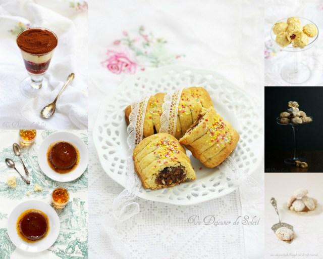 Desserts, entremets et biscuits italiens typiques de Noël : bonet, ricciarelli, cavallucci...