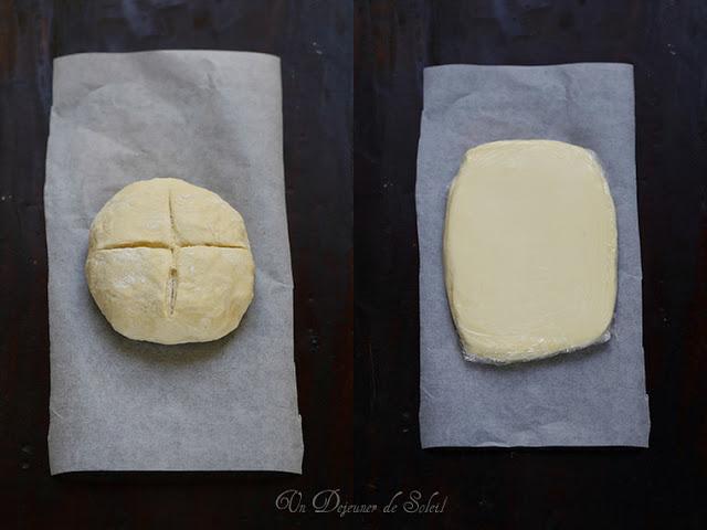 Pâte feuilletée pas à pas : détrempe et beurre