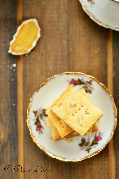 Ginger shortbreads (au gingembre)
