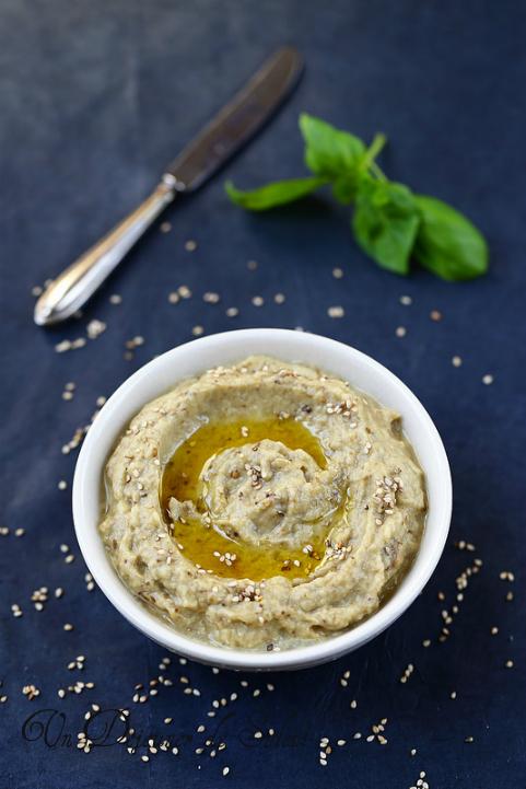 Baba ganoush (caviar aubergines sésame)
