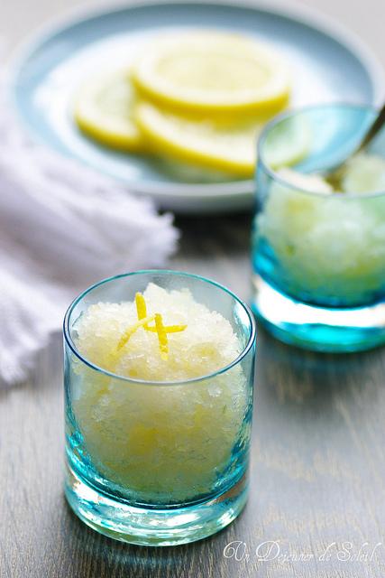 Granité au citron italien - Lemon granita