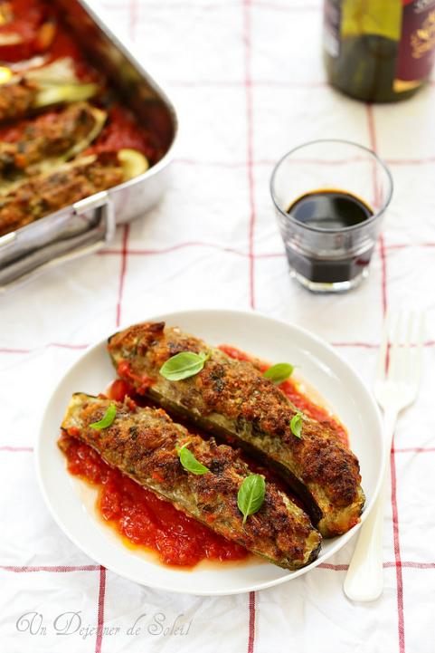 Courgettes farcies à la viande comme à Rome - Un déjeuner de soleil