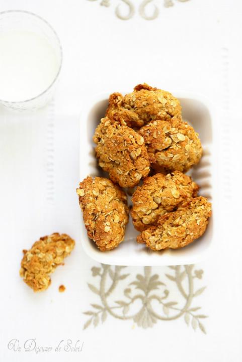 Biscuits aux flocons d'avoine et miel façon Anzac Biscuits