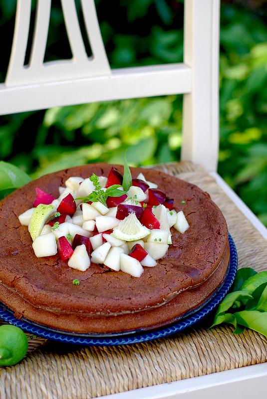Gâteau au chocolat et à la ricotta (sans beurre et sans gluten)