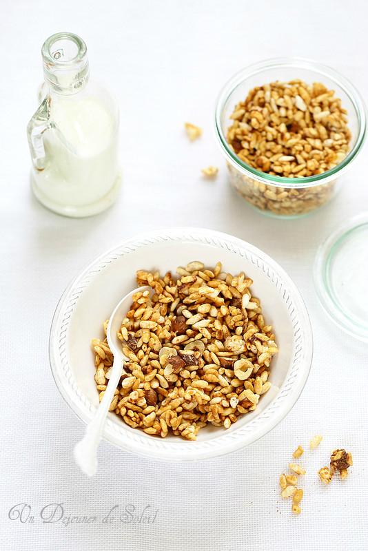 Granola sans au riz soufflé