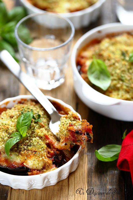 Parmigiana d'aubergines légère (recette)