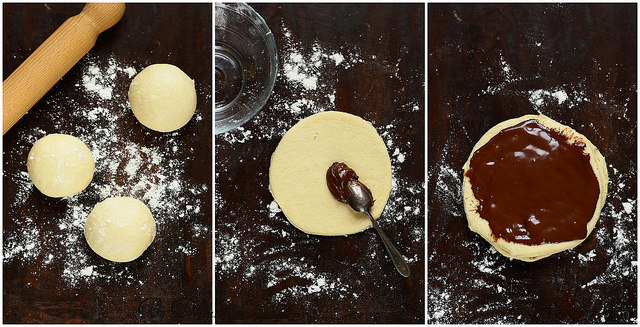 Brioche flocon de neige au chocolat (pas à pas)