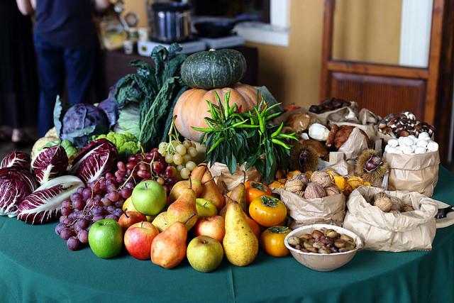 Table fruits et légumes d'automne