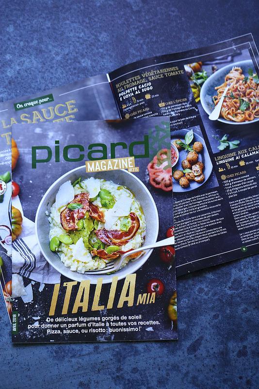 Recettes italiennes de Edda Onorato pour Picard Mag du mois d'avril gratuit dans tous les magasins