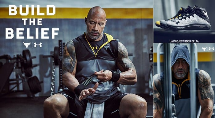 La collection de chaussures et de vêtements UA de The Rock Dwayne Johnson