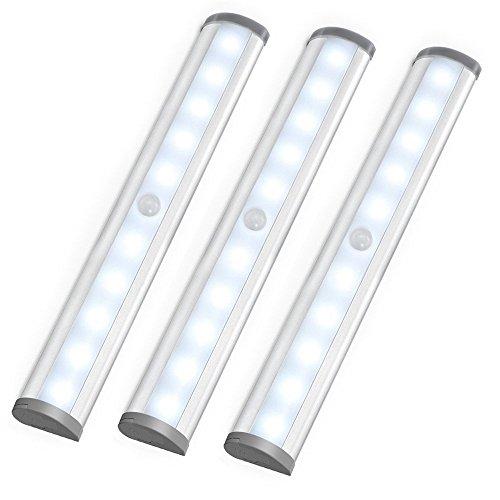 LE LED Closet Light, Motion Sensing Under Cabinet Lighting, 10-led ...