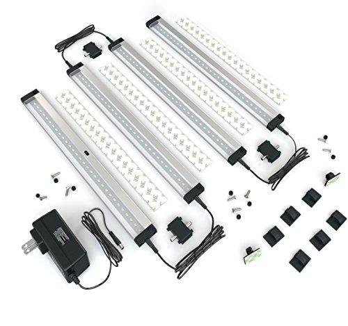 New] EShine 6 Panels LED Dimmable Under Cabinet Lighting Kit! Hand ...