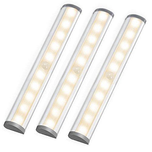 LE LED Closet Light, 10 Led Motion Sensing Under Cabinet Lighting, Wireless  Stick