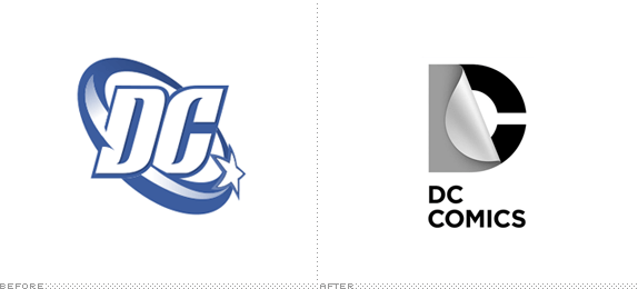 DC Comics Logo, Before and After