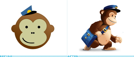 MailChimp Logo, Before and After