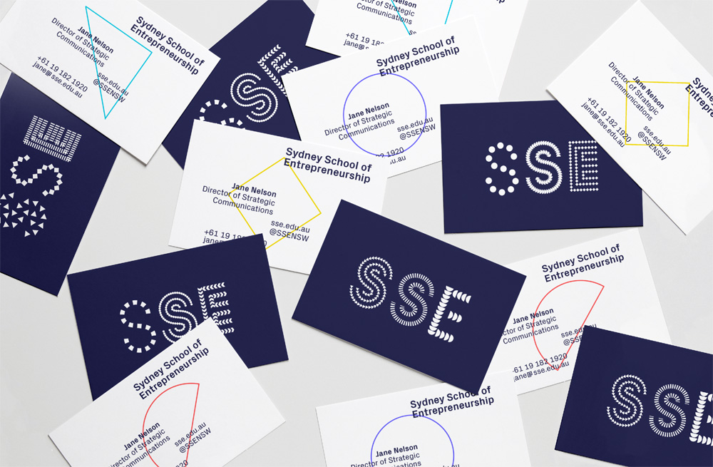 New Logo and Identity for Sydney School of Entrepreneurship by For The People