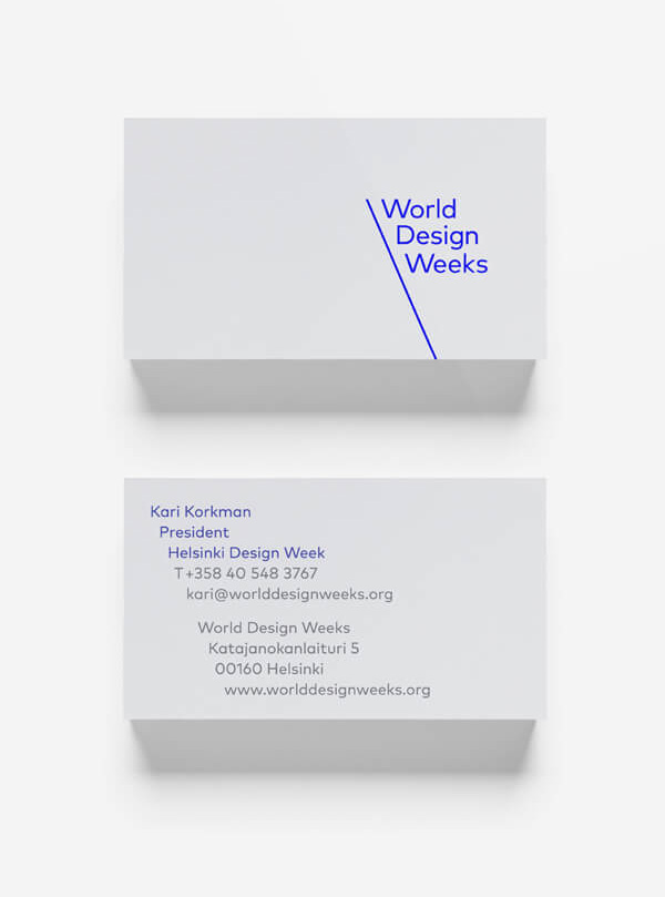 New Logo and Identity for World Design Weeks by Mucho