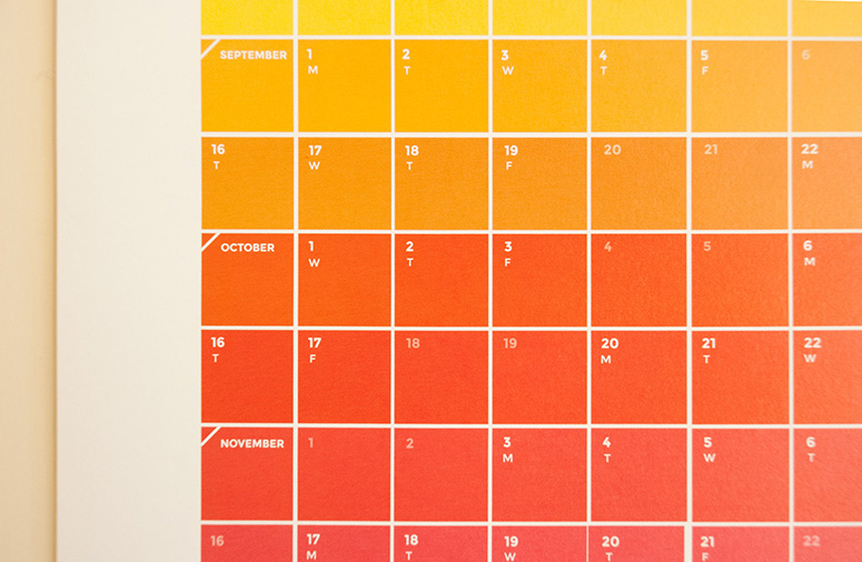 FPO Colour Chart Calendar