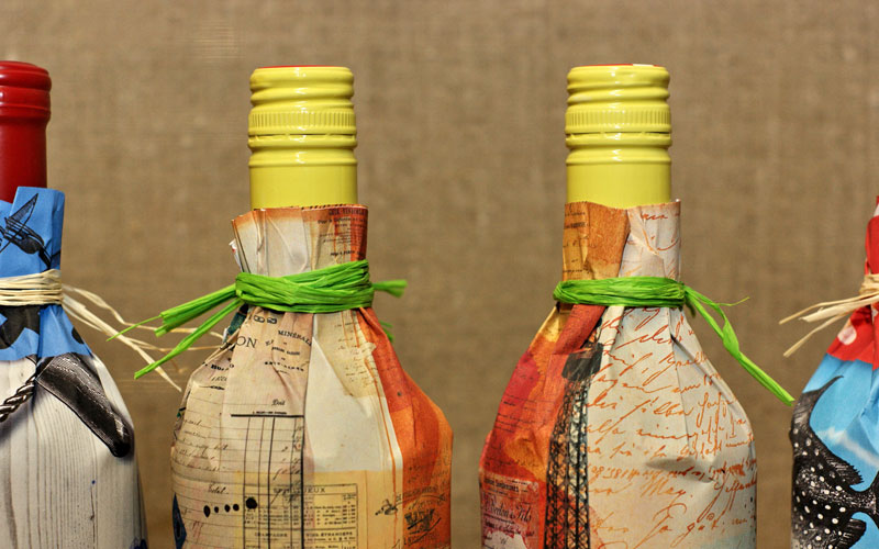 FPO Bottle Gift Wrapping Paper
