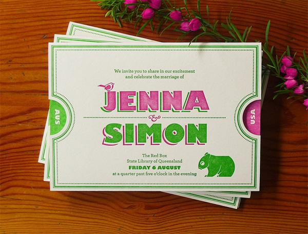Jenna and Simon Wedding Invitation