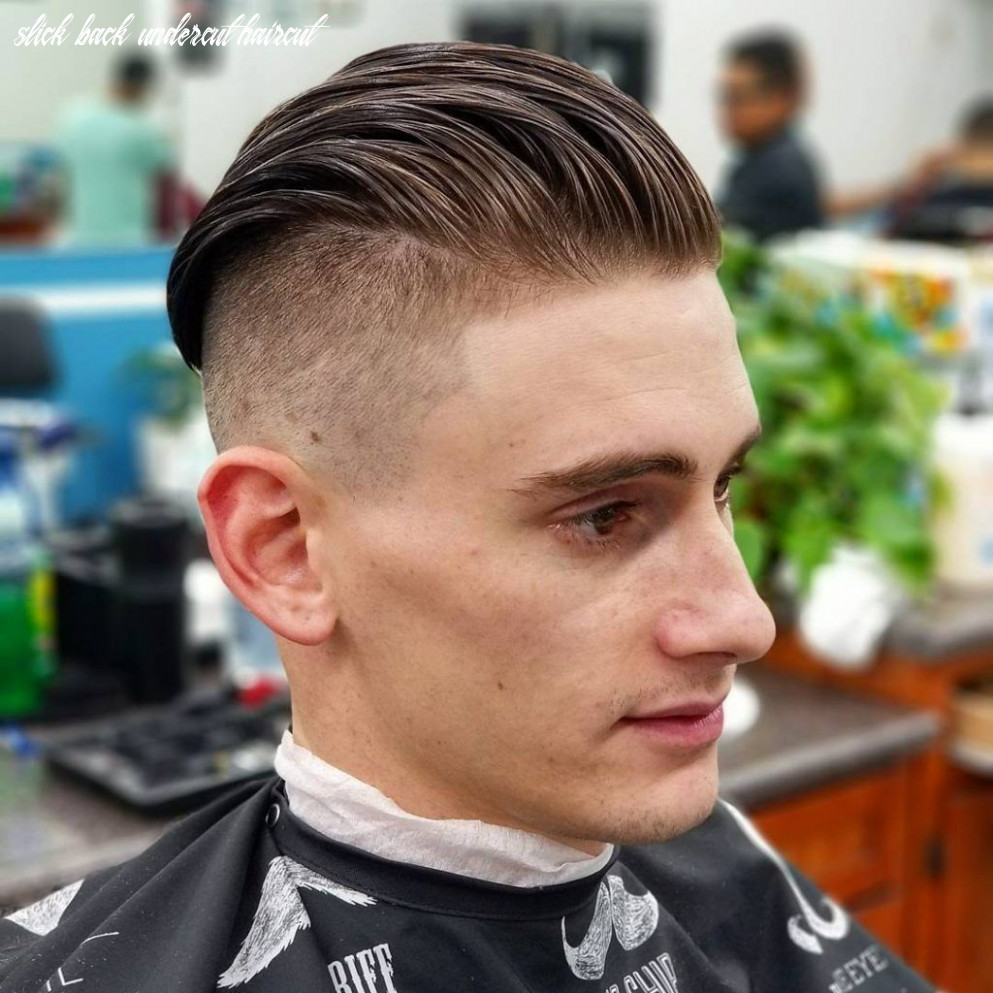 10 awesome slick back haircuts for men   mens undercut hairstyle