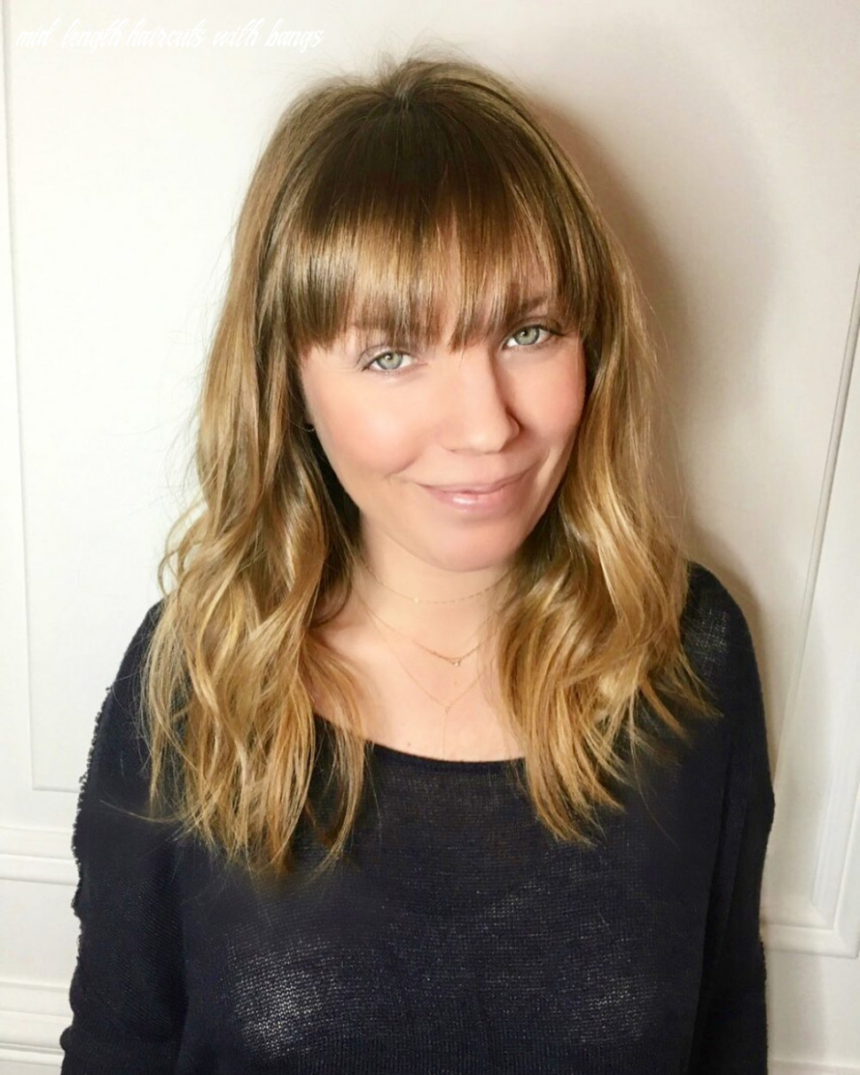 10 popular medium length hairstyles with bangs in 10 mid length haircuts with bangs