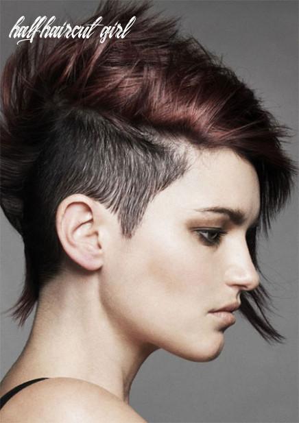 11 brilliant half shaved head hairstyles for young girls [11] half haircut girl